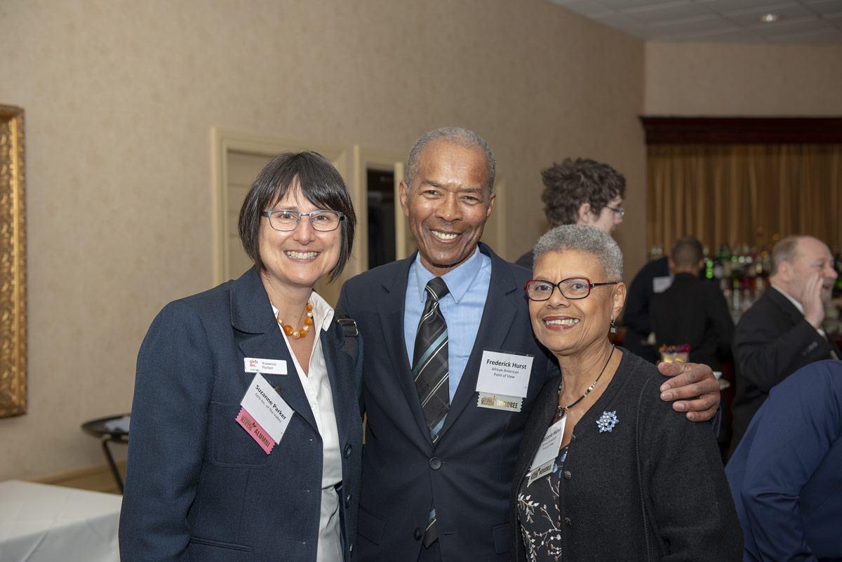 Suzanne Parker, Girls Inc. of the Valley; and 2019 Difference Makers Frederick and Marjorie Hurst.