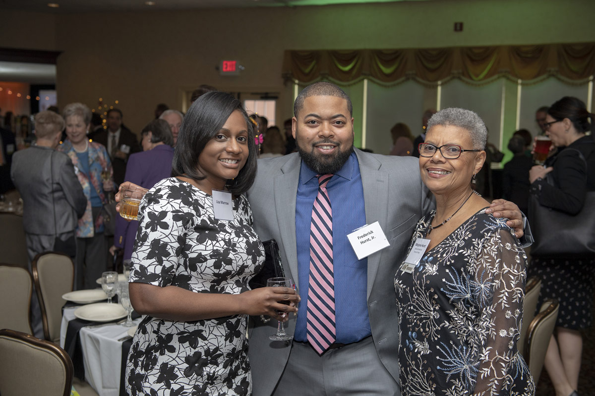 Lisa Marrow, Frederick Hurst Jr., and 2019 Difference Maker Marjorie Hurst.
