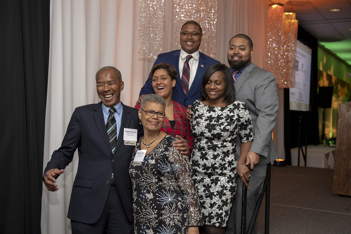 2019 Difference Makers Frederick and Marjorie Hurst with family.