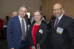 Andrew Morehouse and Shannon Yaremchak of 2019 Difference Maker the Food Bank of Western Mass., and Frank Robinson, Baystate Health.
