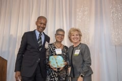2019 Difference Makers Frederick and Marjorie Hurst and Jane Albert, Baystate Health.