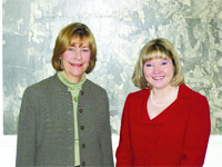 Deborah Dachos (left, with Mayor Susan Dawson)