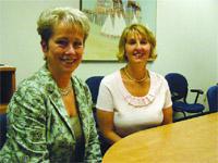 Mary Ellen Scott, left, and Christine Phillips