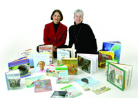 Susan Jaye Kaplan, right, with Janet Crimmins, with whom she partnered to create Linked to Libraries.