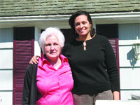 Cheryl Gorski, right, with Joan Ryan