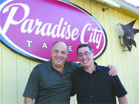 Claudio Guerra, left, with Operations Manager Bill Collins,