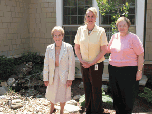 Sr. Mary Caritas, Jackie Bolieau, and Sr. Joan Mullen