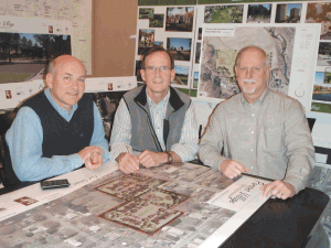 From left, Richard Klein, Peter Wells, and Mark Darnold