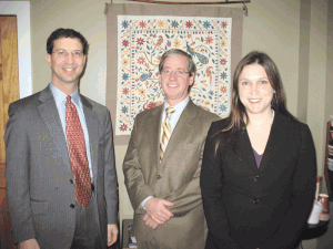 From left: Daniel Berger, Joseph Curran, and Megan Kludt