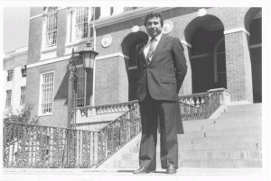 Herbie Flores outside the State House in Boston, mid-1980s.