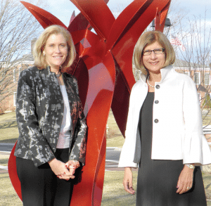 Kathleen Bourque, left, and Carol Leary