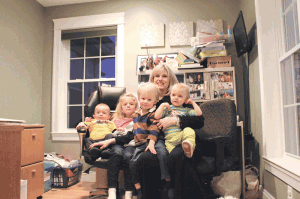 Janet Casey, who has four small children and owns Marketing Doctor