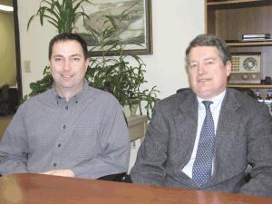 Peter DeMallie (right, with Ben Wheeler)