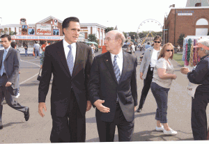 It took some doing, but Wayne McCary was finally able to coax a Big E visit out of of then-Massachusetts Gov. Mitt Romney.