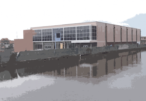The MGHPCC, which will open along the canals in Holyoke this fall.