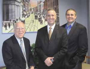 Springfield Chamber leaders (from left) Jeff Ciuffreda, Jeff Fialky, and Patrick Leary