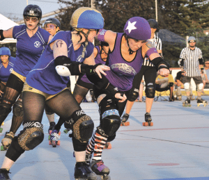 The women competing in the growing sport of roller derby