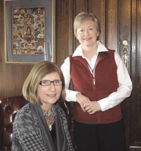 Carol Leary, left, and Caron Hobin