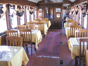 The restored 1909 parlor car