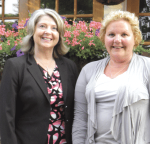 Laurie Rosner, left, has been a mentor to Sue Rondeau