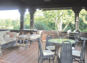 The patio off the music room