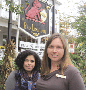 Michele Kotek, right, and Stephanie Gravalese-Wood