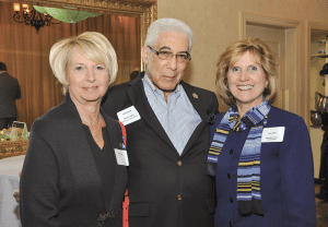 Jim Vinick, senior vice president of investments at Moors & Cabot Inc. and member of the Difference Makers Class of 2013, poses with speech pathologist Marjorie Koft, left, and Jane Albert, vice president of development at Baystate Health, another of the event's sponsors.