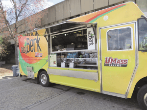 The food trucks at UMass Amherst