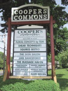 The sign outside Cooper's Commons