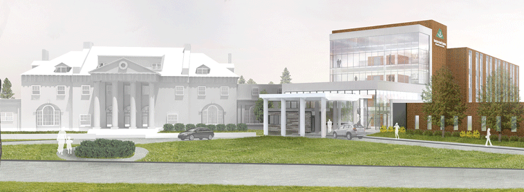 A rendering of the BMC Cancer Center in Pittsfield