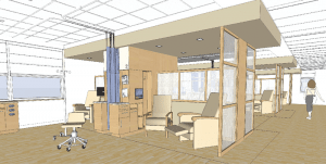 An interior rendering