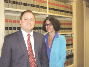 Attorneys Jeff Trapani and Nancy Frankel Pelletier