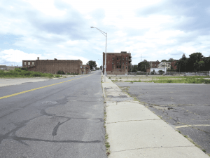 This stretch of Worthington Street, which includes the site of the natural-gas blast, is among the areas the city hopes to revitalize as part of a broad innovation district.