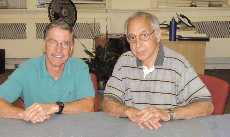John Hine, left, and Frank DeToma