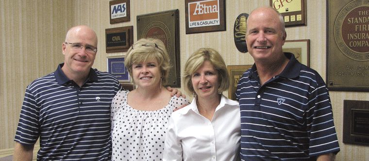 From left, Tom, Kathy, Anne, and Jim Daley