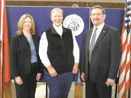 From left, Kayce Warren, Carolyn Shores Ness, and Paul Olszewski