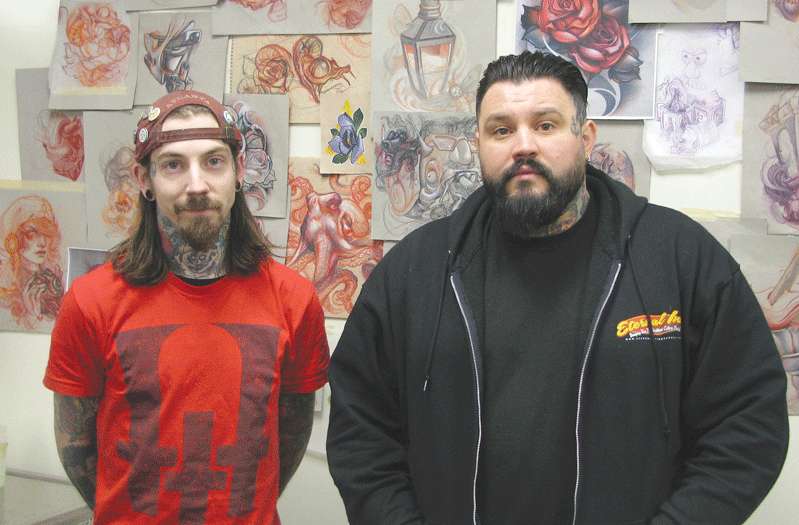 Tattoo Afterlife co-owners Timmy Barnes and Matt Olivieri