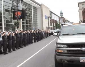 The funeral for slain Springfield police officer Kevin Ambrose