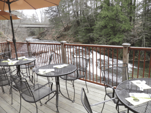 The Alvah Stone's outdoor patio