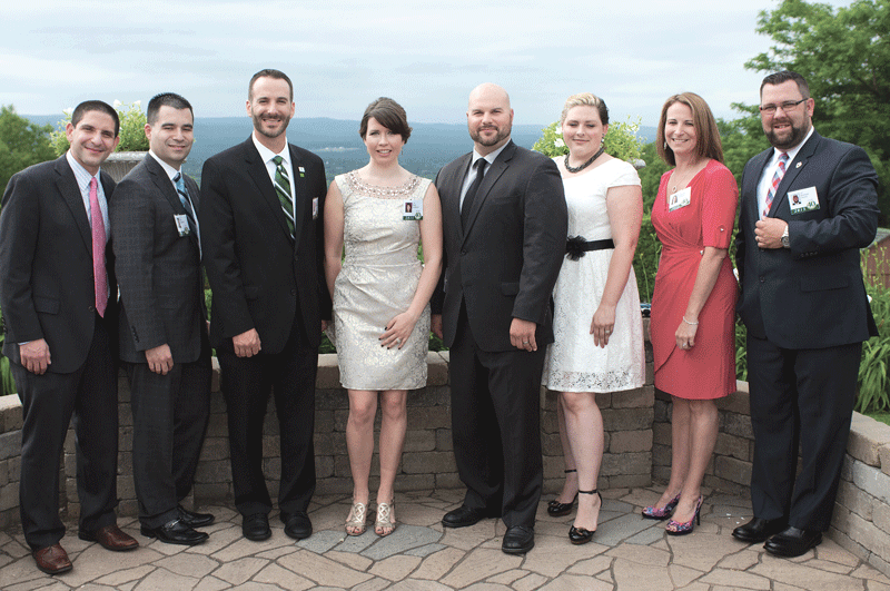 From left: class of 2015 honorees Dr. Anthony Sarage, pediatric surgeon