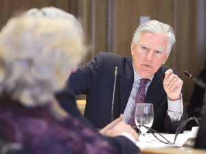 Marty Meehan says his primary role as UMass president is to advocate for the system