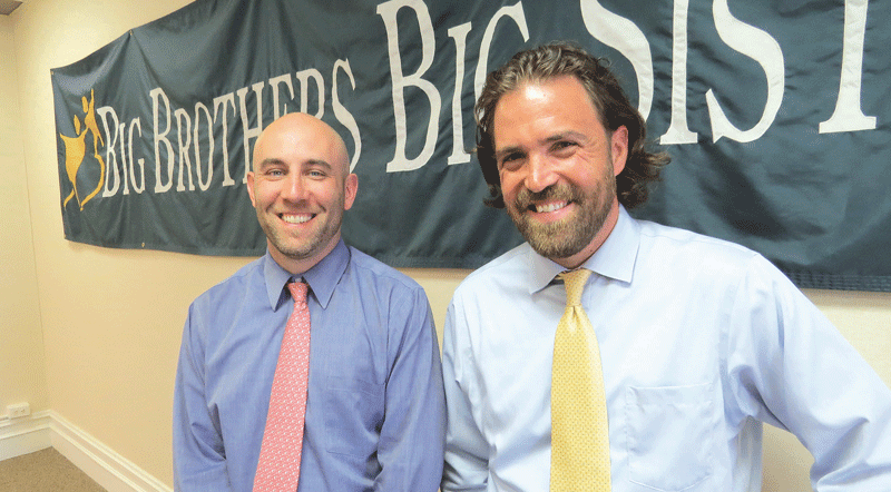 David Beturne, left, seen here with BBBSHC Director of Development Jesse Vanek