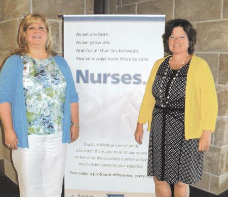 Baystate's Patricia Samura (left) and AIC's Karen Rousseau