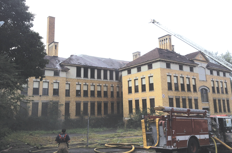 The fire that engulfed the Chestnut Middle School