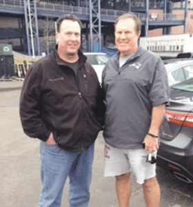 Mike Balise, seen here with Patriots coach Bill Belichick