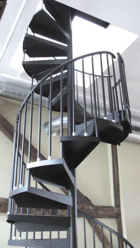 20-foot spiral staircase