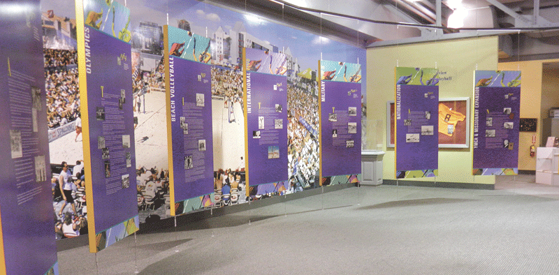 A display of large, colorful panels