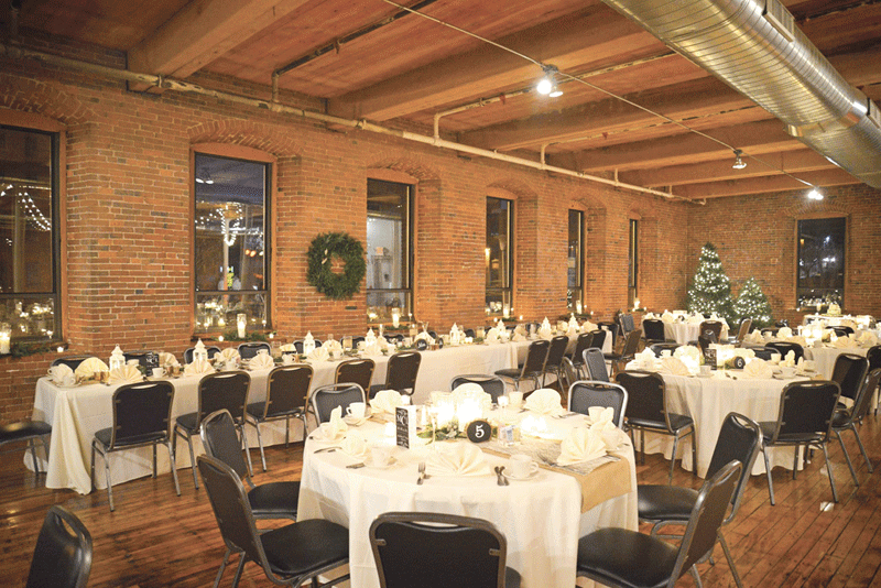 an ideal setting for a holiday party