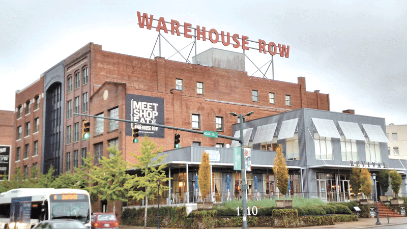 The conversion of former industrial buildings
