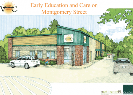 A rendering of the new Valley Opportunity Council early-education center in Chicopee.